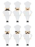 Chef Mustache guy avatar portrait picture icon Royalty Free Stock Image