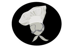 Chef with mustache and hat. Royalty Free Stock Photos