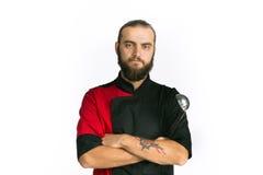 chef Odizolowywający nad białym tłem obraz stock