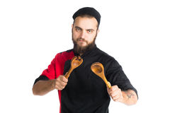 chef Odizolowywający nad białym tłem zdjęcie royalty free