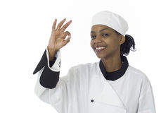 Chef ok sign Royalty Free Stock Photography