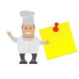 Chef with a page blank Stock Photo