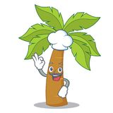 Chef palm tree character cartoon Royalty Free Stock Images