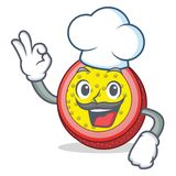 Chef passion fruit character cartoon. Vector illustration Stock Photo