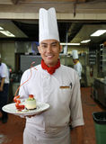 Chef pastry. Smiling at work Stock Photography