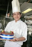 Chef at pastry Stock Images
