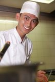 Chef pastry. Photograph of chef pastry at work stock images