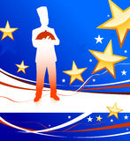 Chef on patriotic background Stock Photo