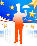 Chef on patriotic background Royalty Free Stock Photography