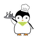 Chef penguin cartoon vector Royalty Free Stock Photos