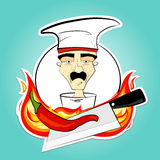 Chef and pepper Royalty Free Stock Images