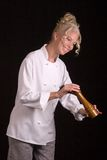 Chef with Pepper Mill Stock Images