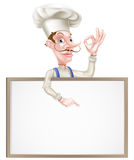 Chef Perfect Sign Pointing Stockfotos