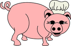 Chef Pig Stockbild
