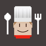 Chef Pixel Icon Royalty Free Stock Images