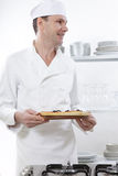 Chef with pizza stock photos