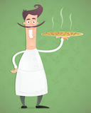 Chef Pizza Stock Images