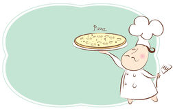 Chef.Pizza Royalty Free Stock Photography