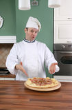 Chef and pizza Stock Photo