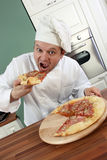 Chef and pizza Royalty Free Stock Photography