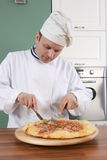 Chef and pizza Royalty Free Stock Images