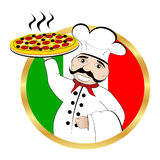 Chef pizza Royalty Free Stock Photography