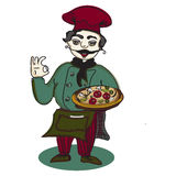 Chef pizza banner Royalty Free Stock Photo