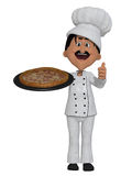 Chef pizza 3d Royalty Free Stock Images