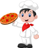Chef with pizza Royalty Free Stock Photo