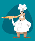 Chef with pizza Royalty Free Stock Photography