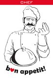 Chef with plate Royalty Free Stock Photos