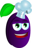 Chef plum Stock Image