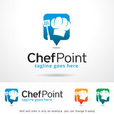 Chef Point Logo Template Design Vector Photographie stock