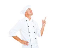 Chef pointing up Stock Photo