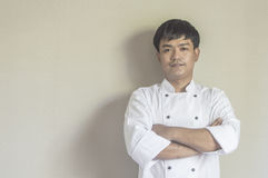 Chef portrait, Asian young chef. Royalty Free Stock Images