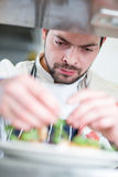 Chef portrait at work Stock Photo