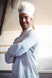 Chef posing with crossed arms Royalty Free Stock Photo
