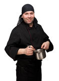 Chef with pot Stock Photography