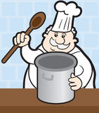 Chef with Pot Royalty Free Stock Images