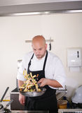 Chef prepare tasty food Stock Image