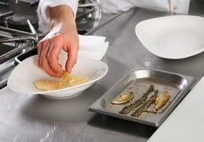 Chef prepared fish Stock Photo