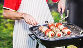 Chef prepares BBQ Royalty Free Stock Photography