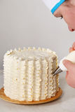 Chef prepares a cake Stock Photos