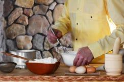The chef prepares the dough Stock Photos