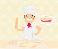 Chef preparing a cake Stock Photos