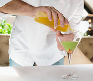 Chef is preparing caviar appetizer Stock Photography