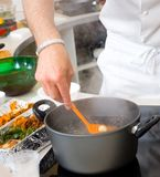 Chef preparing food Royalty Free Stock Photos