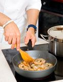 Chef preparing food Stock Photography