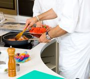 Chef preparing food Royalty Free Stock Images