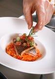 Chef preparing food Stock Images